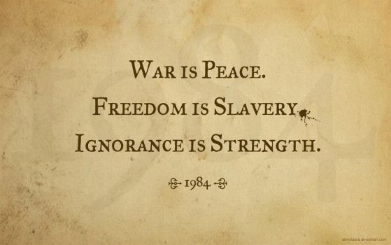 War is Peace - 1984 by abhijitdara