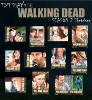 The Walking Dead Season 2 sketches page 1 by Dr-Horrible