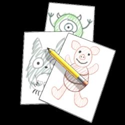 Childhood Drawings (Animated GIF) by jcling
