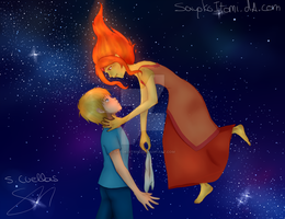 Finn and Flame Princess by SayokoItomi