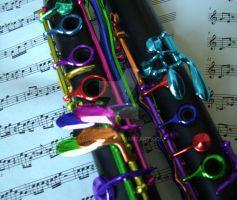 Colorful Clarinet by Lauradotz