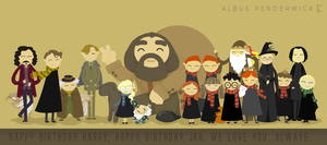 Happy birthday Harry Potter and JKR by albus119