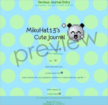 journal desing for mikuhat13 by Q8Toba