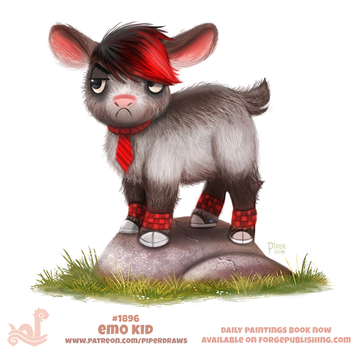 Daily Paint 1896# Emo Kid by Cryptid-Creations