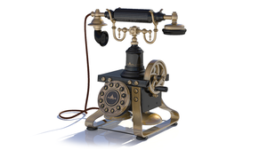 Antique telephone by ivul