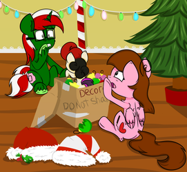 The decorations may have to wait Christmas :GIFT: by TwitterShy