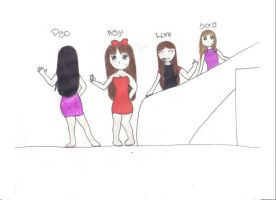 my bff's and mee :P by lore-lou