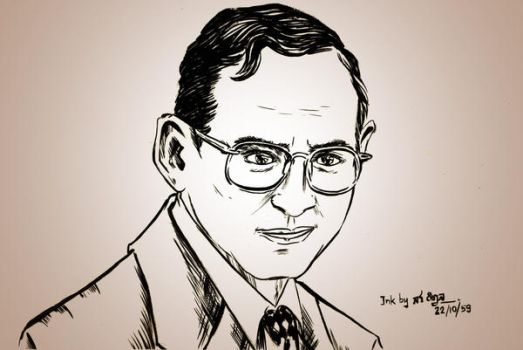 King Bhumibol the Great by sw-eden