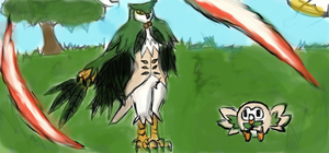 Rowlet evolution Fowliage by roblee96