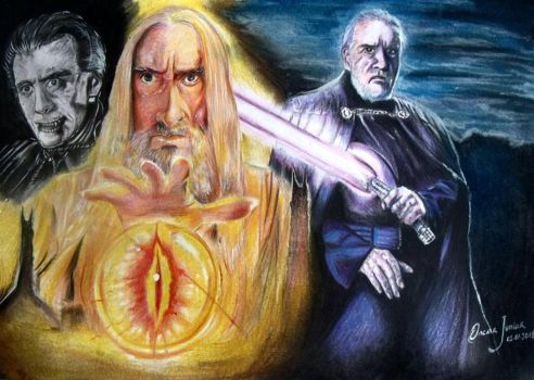 Tribute to the British actor Christopher Lee by Oscarliima
