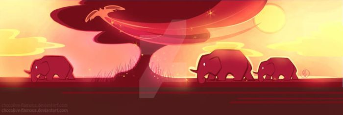 Elephant riders by ChocOlive-Flamous