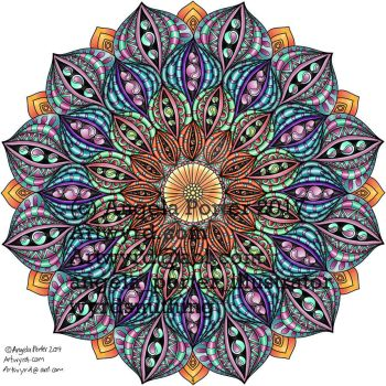 Angela Porter Autumn Mandala 02 coloured Sept 2017 by Artwyrd