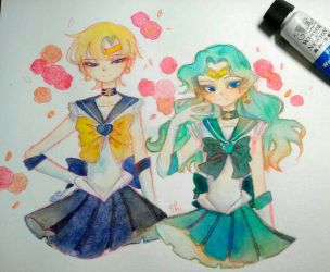 uranus and neptune by Shimelody