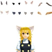 MMD animals ear pack Download by 9844