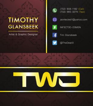 Timothy Glansbeek Business Card by INF3CT3D-D3M0N