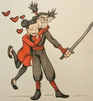 Pucca and Geru  by Skullmask04