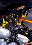 Xmen and Silver Surfer by tonydax