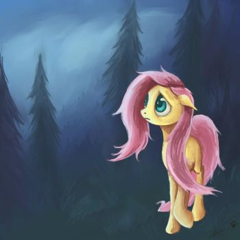 Fluttershy: Lost and Found by Aymspony