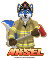 Aksel Firefighter Badge by blake-illustrate