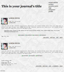Dreamwidth Layout - The Journalist by rum-and-ginger