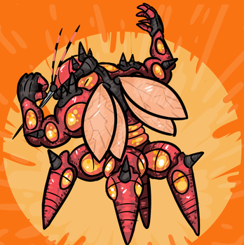 Pokecember 2017 - day 13 - Fave bug type by DudeAndArt