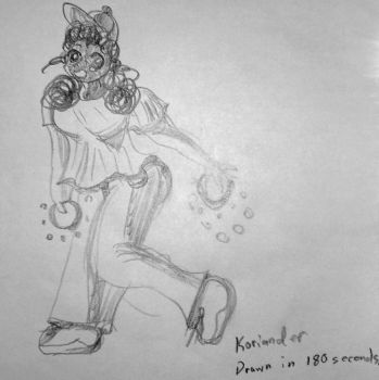 180 second pencil sketch of Ki-Chan  by KorianderBullard
