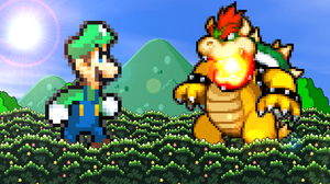 Giant Luigi vs. Giant Bowser by AsylusGoji91