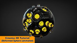 Animated Deformed Sphere (Cinema 4D Tutorial) by NIKOMEDIA