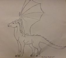 Dragon sketch by TheGreenNightingale