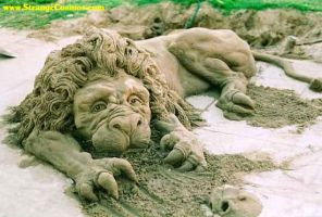 Sand Sculpture by Dezziej
