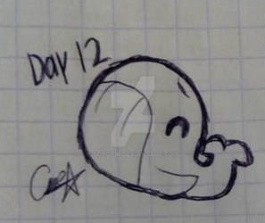 Inktober Day 12 Whale by Soropin