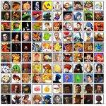 100 Favourites Characters of videogames by Migeru-D