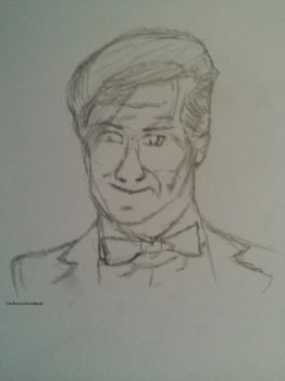11th Doctor Sketch by DatorVitae