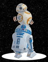 R2D2 and BB8 by hpkomic