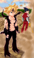 Collab!! Meliodas~Zeldris 256 by MariaBlueNeko
