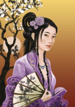 Ai Yue, wife of Chinese poet Manchu Shan by GwilymG