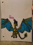 Rose the Tiedan/RainWing Hybrid by FlamingGatorGirl