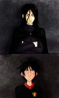 Snape and Harry by CharlotteVixen