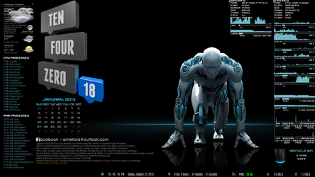 Rainmeter Desk by ney2x