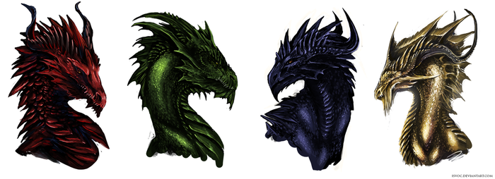Colorful Dragons by Isvoc