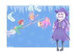 Babies and The Winter Witch  - Commission by CherryS-12