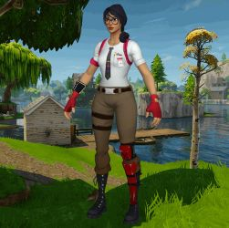 Fortnite Battle Royale Maven (XNALara model) by chutesto12new