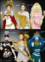 The Olympian Greek Queens and Princesses by LadyRaw90