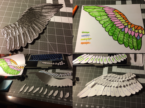 WIP: Wing Bracers, Part One by BlueFeatherIllusions