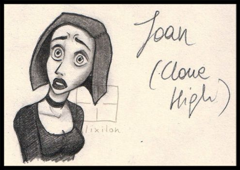 Cartoon Expression Study - Joan from Clone High by Lilixilon
