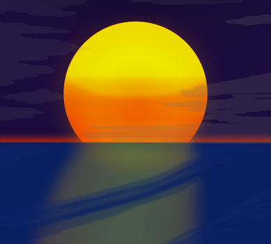 Sunset Attempt by Zabius