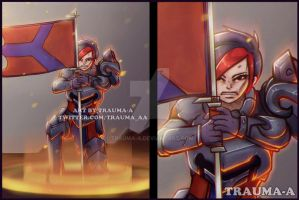 Ash - Paladins [Commission] by Trauma-a