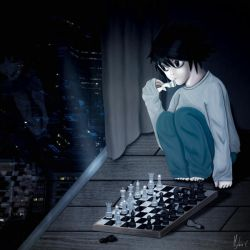 //Commission// Young L playing chess by Mylene-C