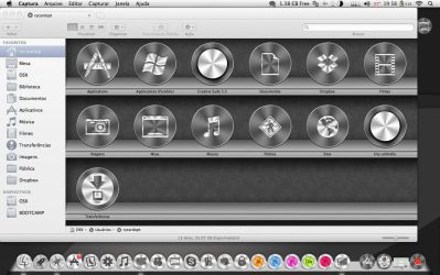 Titanium icons for Dock, Folders by ryc182