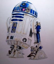 R2D2 Star Wars  by theartgearguide